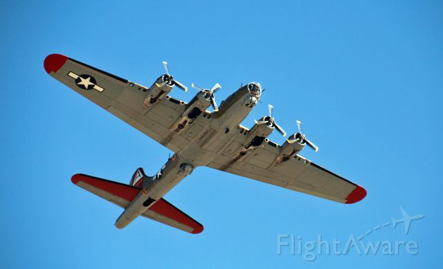 Boeing B-17 Flying Fortress — - Nine-O-Nine departs for a short trip around Sacramento for the Wings of Freedom Tour.