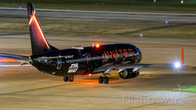 Boeing 737-800 (N36272) - United Star Wars livery waiting for taxi from terminal E KIAH