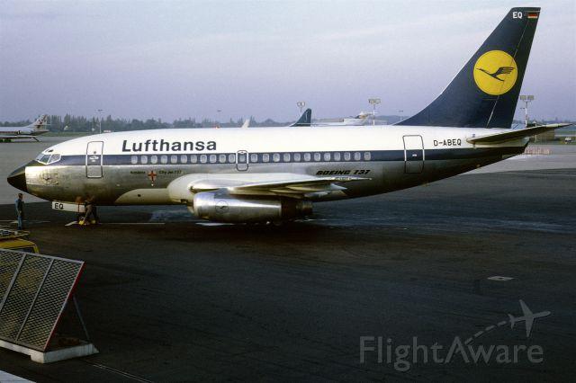 Boeing 737-100 (D-ABEQ) - November 1968 at Düsseldorf (EDDL)