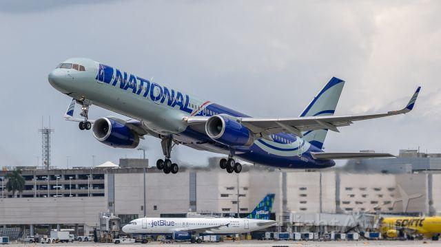Boeing 757-200 (N567CA) - National B757-200 taking off on runway 28L at Ft. Lauderdale International Airport