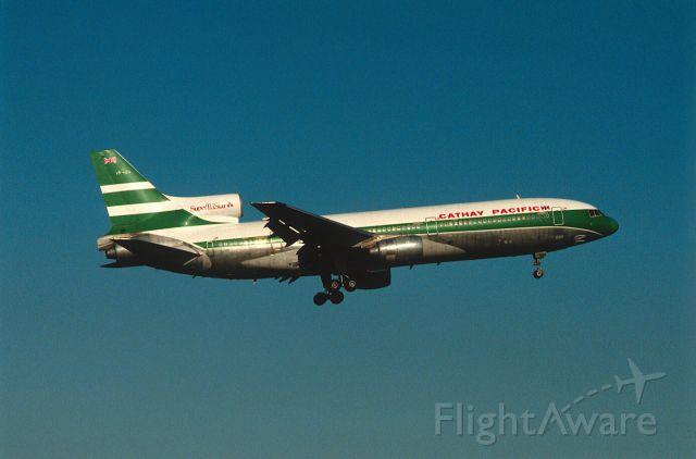 Lockheed L-1011 TriStar (VR-HOA) - Final Approach to Narita Intl Airport Rwy16 on 1987/10/18