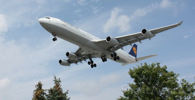 Airbus A340-300 (D-AIGS) - On Approach at Toronto, August 30, 2013