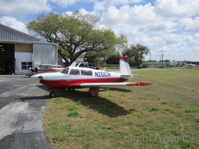 Mooney M-20 (N201CN) - CLEARWATER AIRPARK 02.22.2013, CLEARWATER, FL, USA