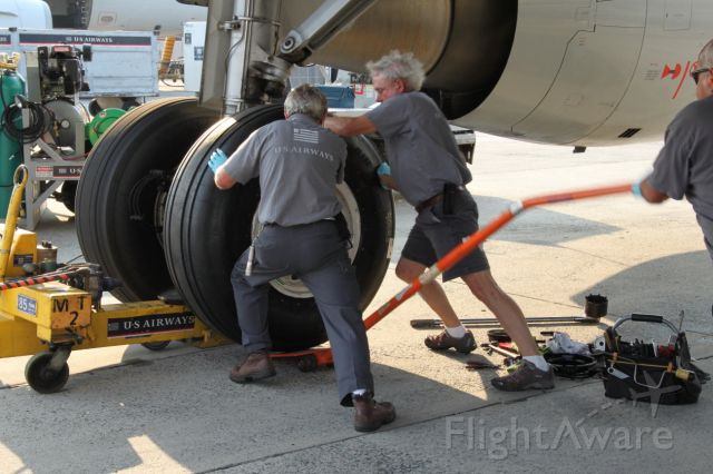 Airbus A321 (A321TIRE) - How to change a main tire on an Airbus: Wait for the ramp temperature to be in the high 90