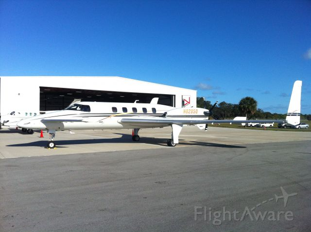 Cessna Chancellor (N8285Q) - Nothing quite like seeing your first Starship up close.