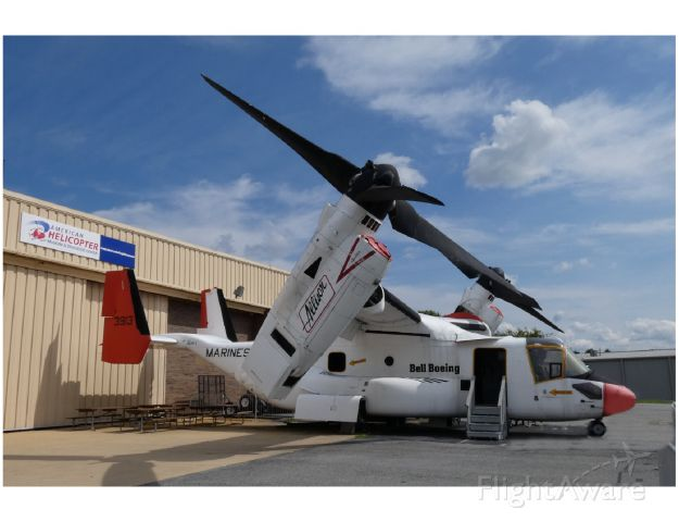 N3913 — - On display is this early Bell-Boeing Osprey Tiltrotor Aircraft at the Brandywine Pa. American Helocopter Museum. This aircraft was the third of six prototypes. The program dates back to 1989 for the Tiltrotor aircraft.