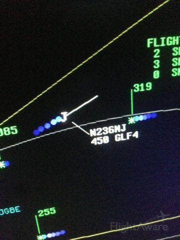 Gulfstream Aerospace Gulfstream IV (N236MJ) - Air traffic control view of Michael Jordan's G4 level FL450 from LAX to CLT.