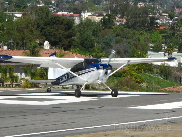Cessna Skywagon 180 (N10KY) - Departing Runway 18