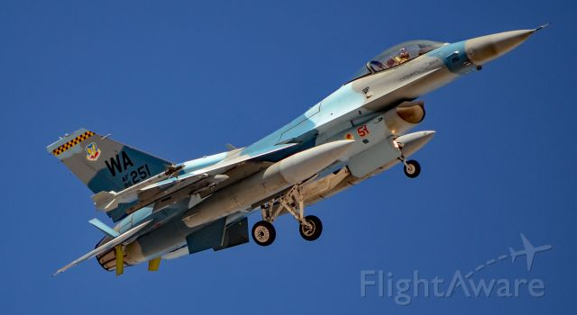 Lockheed F-16 Fighting Falcon (86-0251) - General Dynamics F-16C Viper USAF 86-0251 64th Aggressor Squadron - Las Vegas - Nellis AFB (LSV / KLSV)br /USA - Nevada, March 19, 2018br /Photo: TDelCoro