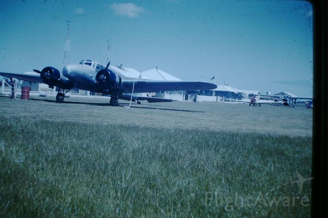 Avro Anson (VH-FIB) - Flinders Island Airlines anson parked on the grass in front of FSU, circa 1958