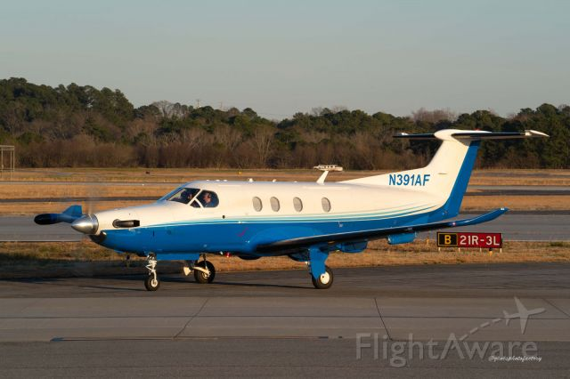N391AF — - Several PC 12's are chartered out of this airport.  There is an elevated review stand to observe and photographs aircraft.