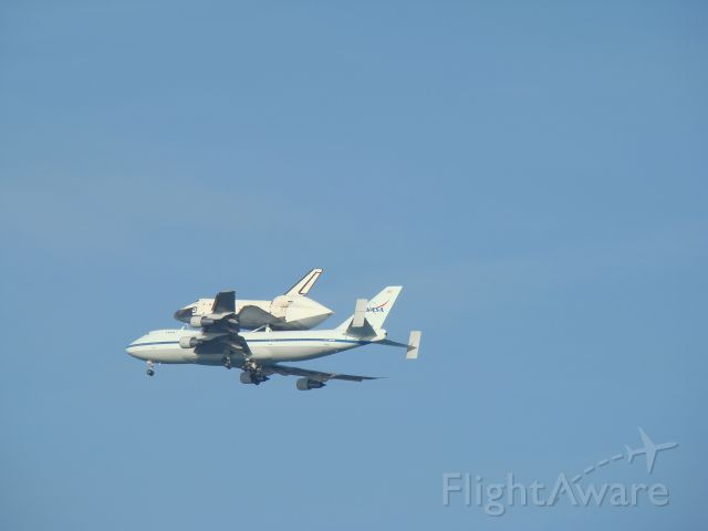 N911NA — - Fly by of Atlantis at Cape Canaveral
