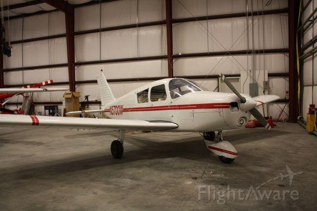 Piper Cherokee (N5700W) - N5700W in the hangar at Bitterroot Aviation in Stevensville, Montana