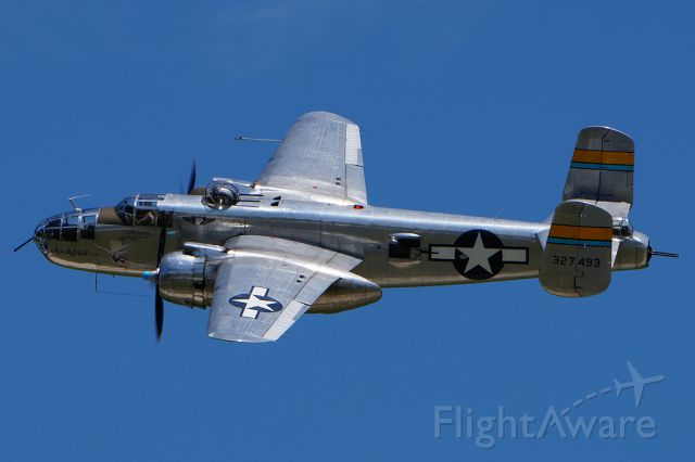 """North American TB-25 Mitchell (N27493) - """"Miss Mitchell"""" at the 2015 Minnesota Air Spectacular"""