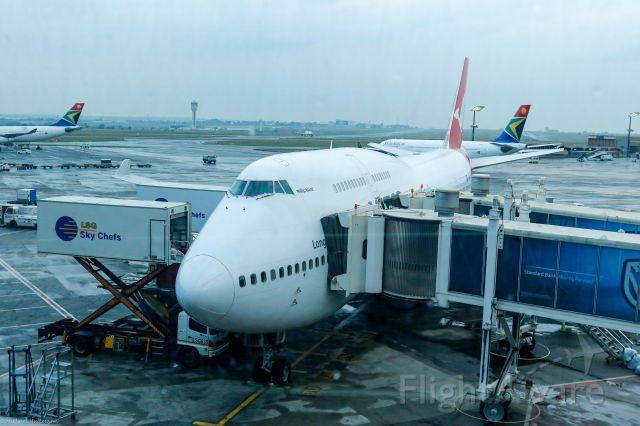 Boeing 747-200 (VH-OEB) - Ground Service Johannesburg 2017