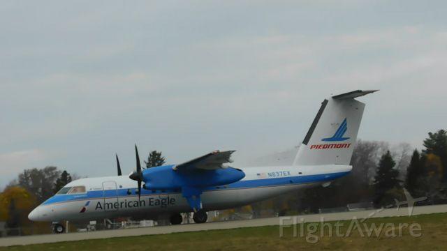 de Havilland Dash 8-100 (N837EX) - American eagle / piedmont operated, piedmont colorsbr /Piedmont heritage Dash-8•Q100