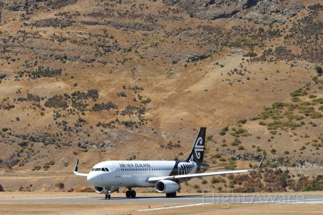 Airbus A320 (ZK-OXH) - ZK-OXH preparing for take off at Queenstown International Airport.