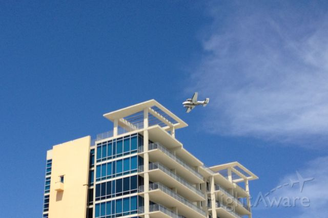 — — - Sitting on the beach watching planes comes into the Destin airport is always a highlight