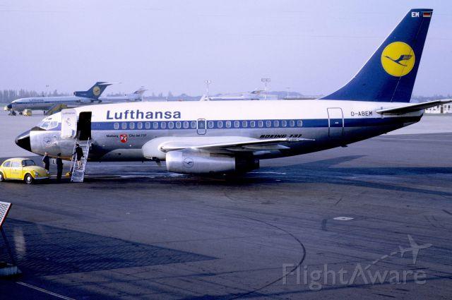 Boeing 737-100 (D-ABEM) - November 1968 at Düsseldorf (EDDL)