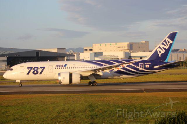Boeing 787-8 (JA802A) - 鯖、さようなら。
