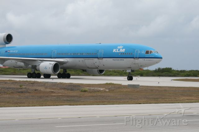 Boeing MD-11 (PH-KCD) - See on Bonaire, Isle after landing on fly from holland