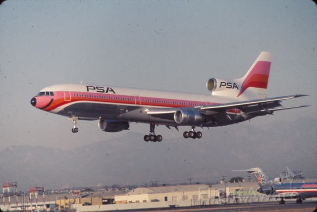 Lockheed L-1011 TriStar — - short lived ops of L1011 PSA..  early 1970s  LAX