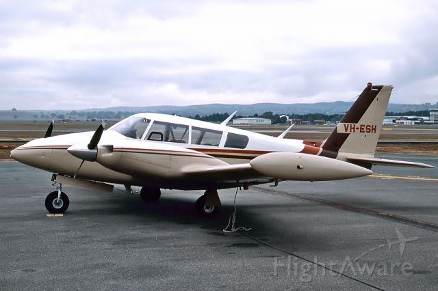 BELL-AGUSTA AB-139 (VH-ESH) - PIPER PA-30-160 TWIN COMANCHE C - REG : VH-ESH (CN 30/1785) - CANBERRA ACT. AUSTRALIA - YSCB (18/6/1987) 35MM SLIDE SCANNED WITH A EPSON PERFECTION V700 FLATBED SCANNER.