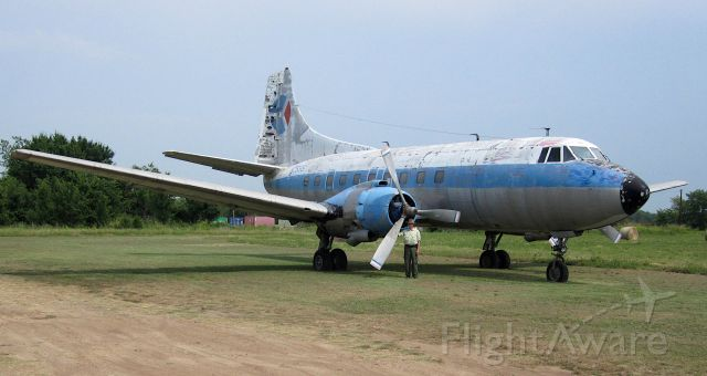 N255S — - Martin 404 at the old Flying Tiger Field in Toco, Texas