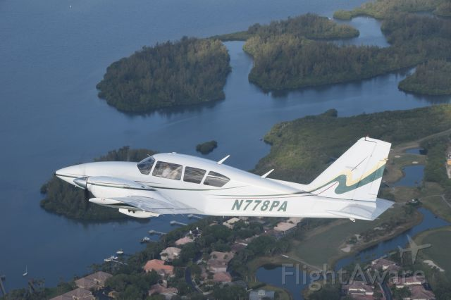 Piper Aztec (N778PA) - This photo was taken by a friend while flying over the Indian River, south of KMLB.  Big thanks to N808DC!