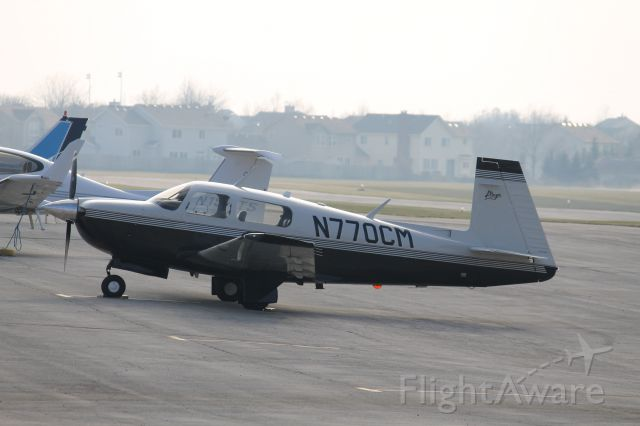Mooney M-20 (N770CM) - On the ramp at 1C5