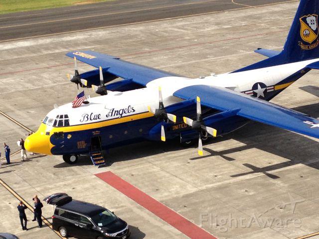 Lockheed C-130 Hercules — - USMC Fat Albert, Blue Angel support/demo aircraft