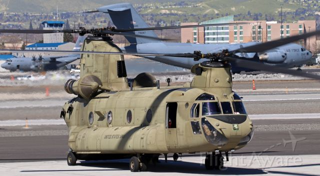 "Boeing CH-47 Chinook (1008855) - United States Army CH-47F Chinook (10-08855)<br />* Previously operated by (and still displays markings of) ....<br />1st Battalion, 228th Aviation Regiment (1-228 Aviation) ""Winged Warriors""<br />United States Southern Command (USSOUTHCOM)<br /><br />* Recently reassigned to (and being flown here by) ....<br />F. Co., 2nd Battalion, 135th General Support Aviation Battalion (2-135 Aviation) ""Blackjacks""<br />United States Army Reserves<br />Joint Base Lewis - McChord (JBLM), WA<br />Home Base:  Buckley AFB, Colorado"