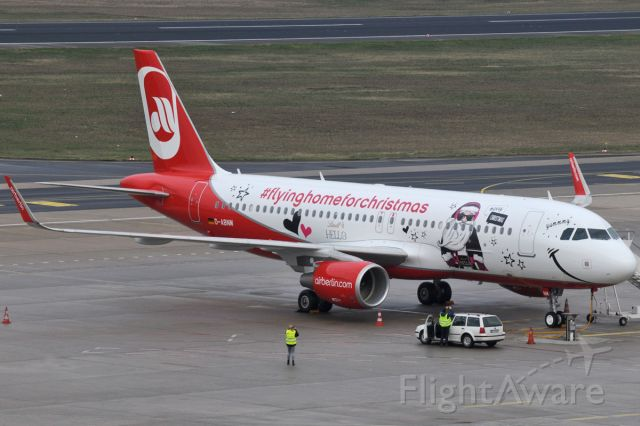 """Airbus A320 (D-ABNM) - New Air Berlin """"FlyingHomeForChristmas2015"""" specila c/s by LINDT Chocolate """"HELLO"""""""