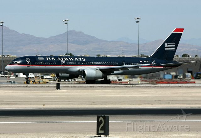 Boeing 757-200 (N625VJ) - KLAS - US Airways departing 25R for Pittsburg apprx April 2005,