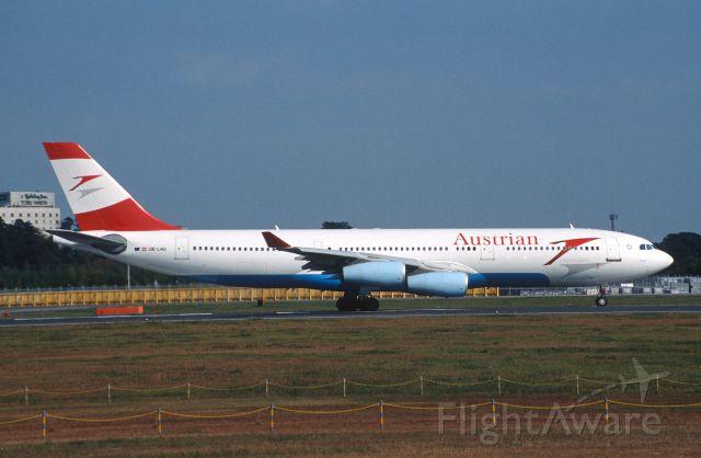Airbus A340-200 (OE-LAG) - Departure at Narita Intl Airport Rwy16R on 2005/11/13