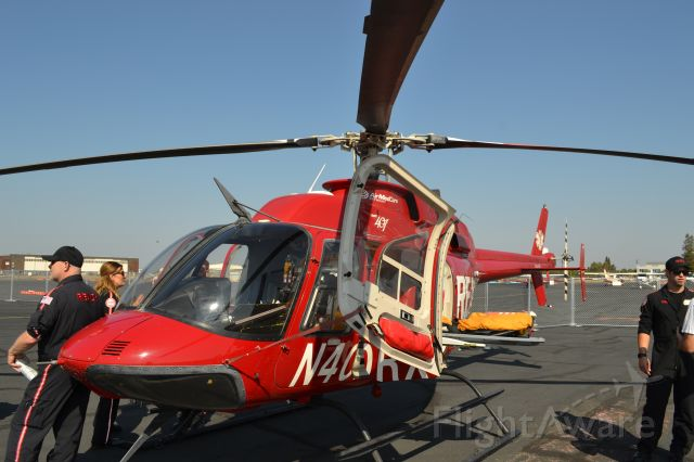 Bell 407 (N40RX) - At the CCA, front shot of the Bell 407.