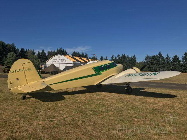 Cessna T-50 Bobcat (N1261N) - Cessna T-50 Bobcat at Pearson Airfield (KVUO)