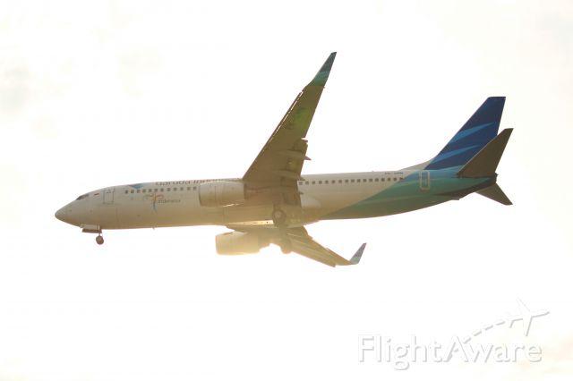 Boeing 737-700 (PK-GMN) - Boeing 737 approaching SIN Runway 02L