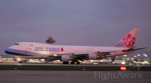 Boeing 747-400 (B-18712) - Early morning departure from Los Angeles, California USA. 20 Dec 14 LAX