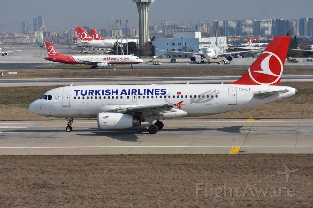 Airbus A319 (TC-JLS) - Small Turkish