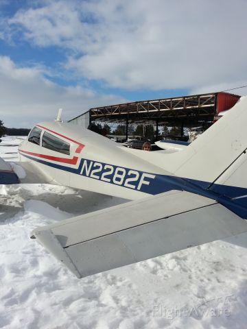 Cessna 310 (N2282F) - Winter in Clear Lake Minnesota