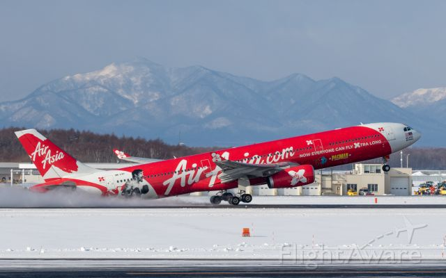 """Airbus A330-300 (9M-XXP) - AirAsia X Malaysia [D7/XAX] / Airbus A330-343X<br />""""Manny Pacquiao Livery""""<br />Jan.07.2018 New Chitose Airport [CTS/RJCC] JAPAN"""