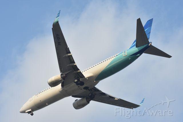 Boeing 737-700 (PK-GFP) - Arrival, Garuda Indonesia, RWY 20R, Changi, Singapore. 8 Sep 2019