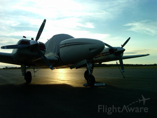 Beechcraft 55 Baron (N1832W) - Sitting on the ramp at the Allen County Airport in Lima, OH.