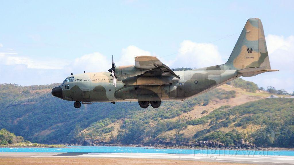 Lockheed C-130 Hercules (A97006) - RAAF Herc landing RWY14 Hamilton Island, Qld.