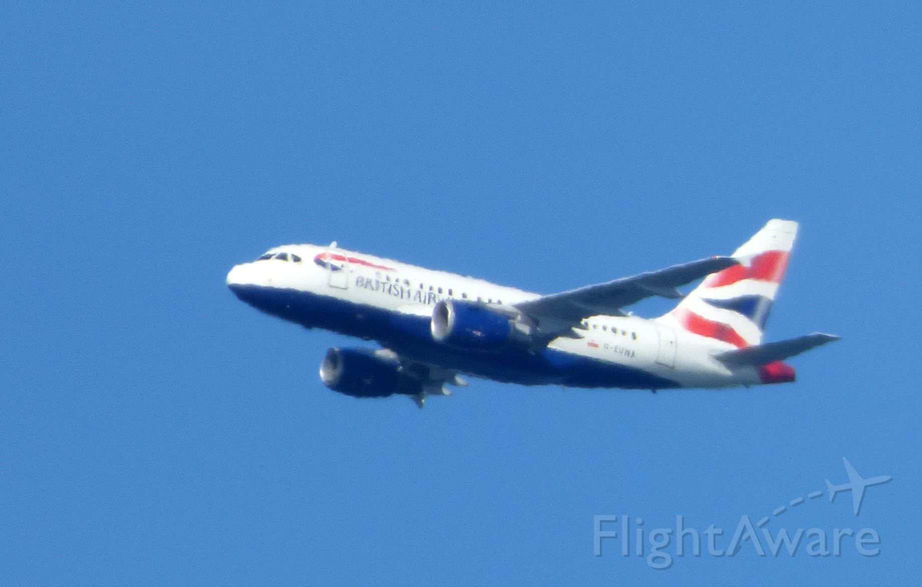 Airbus A318 (G-EUNA) - The smallest of the Airbus fleet this British Airways Airbus A318 is shown minutes away from crossing the North Atlantic with an arrival shortly into JFK in the Spring of 2017. Tough shooting with the air and water vapor and max zoom rendering this a bit blurry.