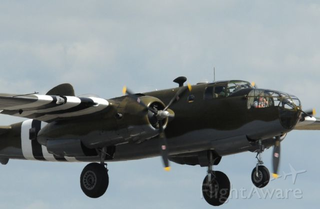 North American TB-25 Mitchell (N88972) - Historic Flight Foundation GRUMPY B-25D Mitchell Bomber on take off from Paine Field September 2nd 2015.