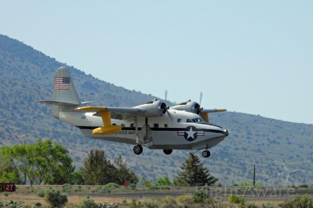 Grumman HU-16 Albatross (N7025N) - Landing on 27 at Carson City Airport
