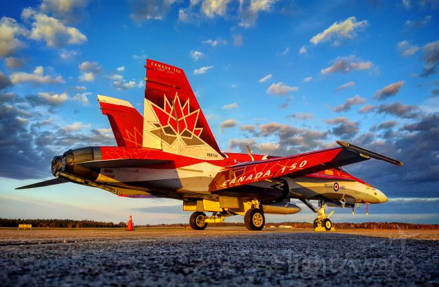 McDonnell Douglas FA-18 Hornet (18-8734) - CF-18 Hornet 2017 Demonstration Jet painted to celebrate Canadas 150th birthday. Taken at CYAM Sault Ste. Marie, Ontario, Canada.