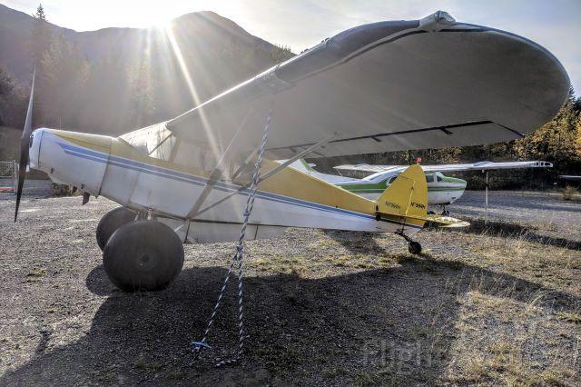 Piper PA-12 Super Cruiser (N7994H) - Girdwood/Alyeska Airport tie-down lot, Girdwood AK